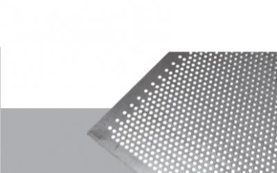 Tablă perforata cu perforatii rotunde