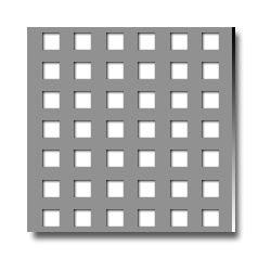 Tablă perforată cu perforatii patrate